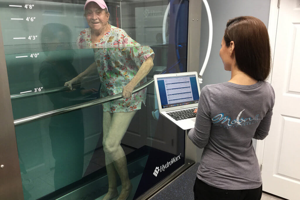 Walking on an Underwater Treadmill - Moon Physical Therapy